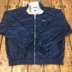 Vintage Navy Blue Nike Windbreaker Jacket/ L